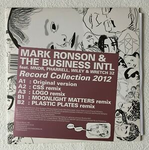 """MARK RONSON & THE BUSINESS INTL ~ RECORD COLLECTION 2012 ~ UK 5-TRACK VINYL 12"""""""