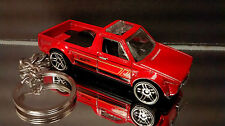 Dark Red VW Volkswagen Rabbit Caddy Pickup Truck Diecast Key Chain Ring