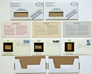 22k Gold Postage Stamp Replicas & USPS First Day Cover Stamps Commemoratives