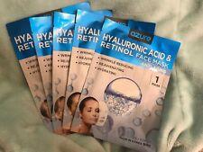 5 x AZURE Set Of Hyaluronic Acid and Retinol Anti-Aging Face Masks