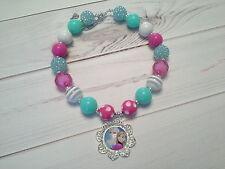 bubblegum chunky bead necklace toddler girl frozen elsa anna princess US SELLER