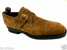 ANDREA FABIANI Monk Strap Italian Men's Brown Dress Shoes - Size: US 11 Euro 44