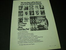 NATIONAL LAMPOON 1976 promo poster ad Release of GOOD-BYE POP mint condition