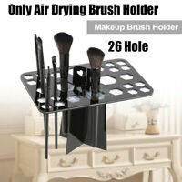 26 Holes Makeup Cosmetic Brush Dryer Organizer Holder Stand Drying Rack Portable