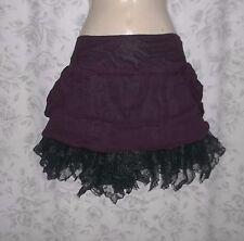Lip Service Swept Away Silk Mini Skirt L Goth Victorian Steampunk Pirate