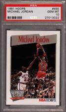 1991 HOOPS #455 SUPREME COURT MICHAEL JORDAN BULLS HOF PSA 10
