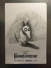 "TIM BURTON FRANKENWEENIE 11""x17"" HIGH QUALITY Mini-Movie AMC IMAX Promo Poster"