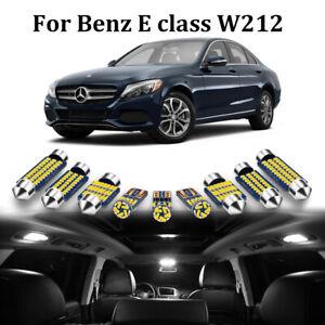 23pc White LED Interior Light Canbus Kit For Mercedes Benz E class W212 2009-15
