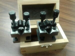 "V-BLOCK WITH CLAMP 1-3//8/"" SOLD IN PAIRS NEW PICTURE #10333"