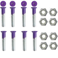 "DIMEBAG Skateboard Hardware 1 Set Purple 1"" 8 Bolts with Nuts"
