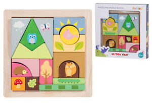 Le Toy Van Petilou Woodland Puzzle Building Blocks