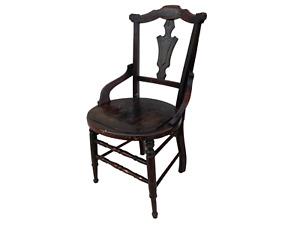 19th Century Eastlake Pentagram Seat Accent Chair