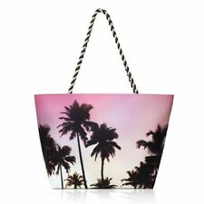 Palm Tree Summer Tote Bag - Pink, Black and Ombre Coloring