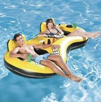 BESTWAY RAPID RIDER 2 INFLATABLE FLOATING SWIMMING POOL LAKE TUBE FLOAT RAFT