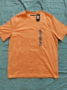 GREG NORMAN Men's Orange Shirt Size Large Short Sleeve Pocket T-Shirt