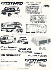 1979 Crestwood Motorhome Campers  - Classic Vintage Car Advertisement Ad J25