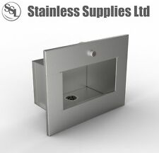 New STAINLESS STEEL COMMERCIAL WALL RECESSED BASIN