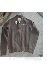HOLLISTER CO.  NWT BROWN  ZIP UP SWEATER JACKET S