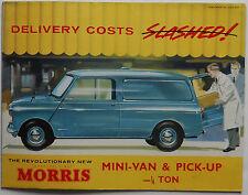 BMC Morris Mini Van & Pick-up fold our brochure 1962