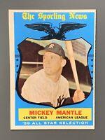 1959 Topps #564 Mickey Mantle All-Star EXMT-NM *Sharp* New York Yankees HOF