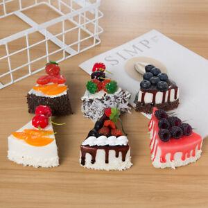 6Pcs Faux Cake Wax Food Fridge Magnet Display Food Decor Prop Furniture