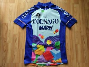 Colnago Mapei Vintage Short Sleeve Cycling Jersey Size: ~M