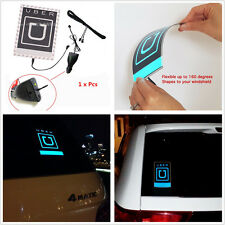 Blue Car UBER Electroluminescent with Self-adhesive tape For Uber Lift Service