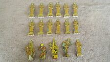 Vintage Marx WW I Metal US Army Soldiers Tin Litho Set of 17 Soldiers