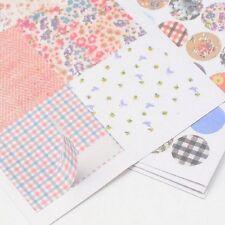 Tarjeta de juego diario planificador Pegatinas Scrapbook Manualidades 6 Hojas de Pegatinas 17 cm X 10 Cm