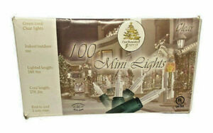 Enchanted Forest 100 Mini Clear Light String - Green Wire