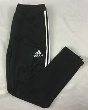 Adidas Women's Athletic TIR017 Climacool Soccer Sweat Pant Black White BS3685 L