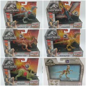 Jurassic World Battle Damage Fallen Kingdom park camp dino figure NEW - YOU PICK