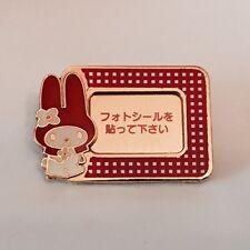 VINTAGE SANRIO HELLO KITTY MY MELODY BROOCH PIN PHOTO FRAME KAWAII JAPAN ONLY