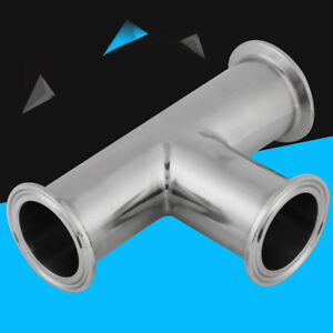 A Standard Sanitary Stainless Steel  TEE,Tri-Clamp Tee,Size 1.5inch/38mm SS304
