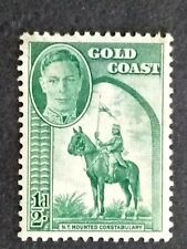 British Gold Coast 1948 King George VI Mounted Constablebulary 1/2d - 1v MH #2