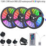 15/10M RGB 3528 LED Strip Lights Colour Changing W/ IR Remote Power Supply 12V