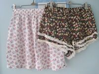Hollister Floral Skirt & CUTE Forever 21 Shorts -LOT OF 2- Size S