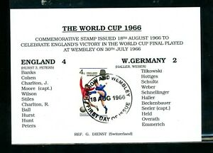 1966 World Cup Team Card  Posted Wembley  First Day     (Au108)