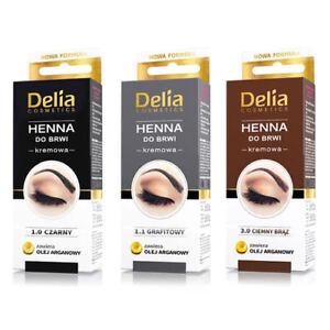 Delia HENNA PROFESSIONAL CREAM EYEBROWS TINT KIT With ARGAN OIL US Seller
