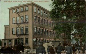 Quincy Point MA Fore River Ship Yards Office c1910 Postcard