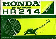 PRINTED 1983 HONDA ROTARY MOWER HR214 OWNERS MANUAL (933)