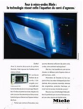 Publicité Advertising 1990 Four à micro-ondes Miele