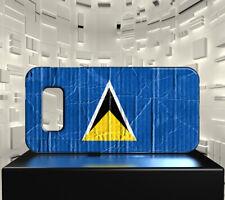 Coque rigide mat pour Galaxy PLUS S10+ Drapeau SAINTE LUCIE 04