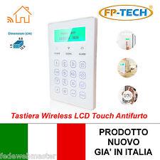 TASTIERA WIRELESS LCD TOUCH MONITOR STATO ALLARME ATTIVAZIONE ANTIFURTO CASA GSM