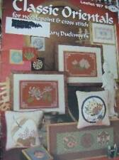 2 Oriental Themed Cross Stitch Booklets-Classic Orientals+Coasters Etc Butterfly