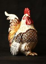 """St Petersburg Russian Faberge Collection: Rooster Trinket Box 3.1"""""""