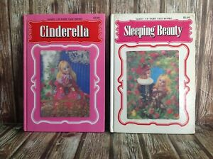 VINTAGE GIANT 3-D FAIRY TALE BOOKS with HOLOGRAM COVER HARDCOVERS CINDERELLA ETC