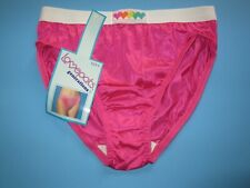 Vintage 1990's SHEER Nylon STRETCH SATIN Hi-Cut Bikini Panties by LOVEPATS 6 M