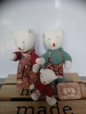 Peluches doudou ours la famille de Valentin de Moulin Roty vintage état neuf