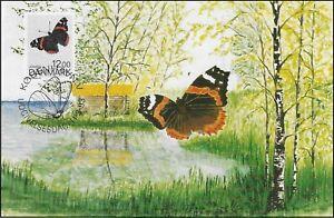Butterfly Admiral Vanessa Atalanta Denmark Mint Maxi FDC Card 1993